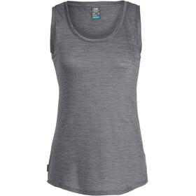 Icebreaker Sphere Mouwloos Shirt Dames grijs/wit